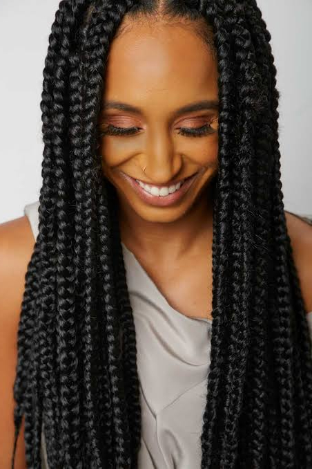 Black Braided Hairstyles: 39 Braided Hairstyles For Black For Most Up To Date Center Part Braid Hairstyles (View 7 of 25)