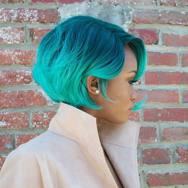 Black Girl With Colorful Hair | Acqua Green Hair | Black Intended For Most Current Aqua Green Undercut Hairstyles (View 11 of 25)