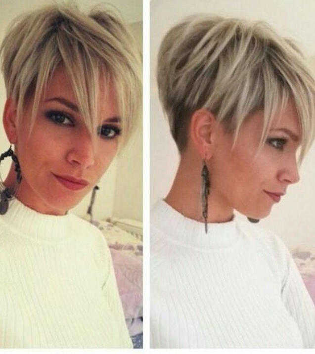 Blond Undercut …   Haircuts   Hairc… Pertaining To Latest Disconnected Pixie Haircuts For Fine Hair (View 5 of 25)