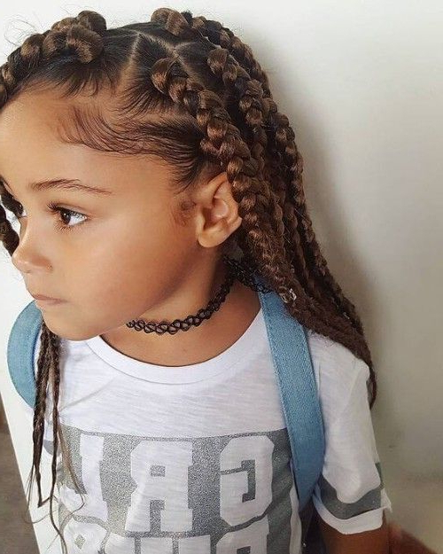 Blonde Accented Box Braids On Stylevore Inside Latest Cornrow Accent Braids Hairstyles (View 13 of 25)