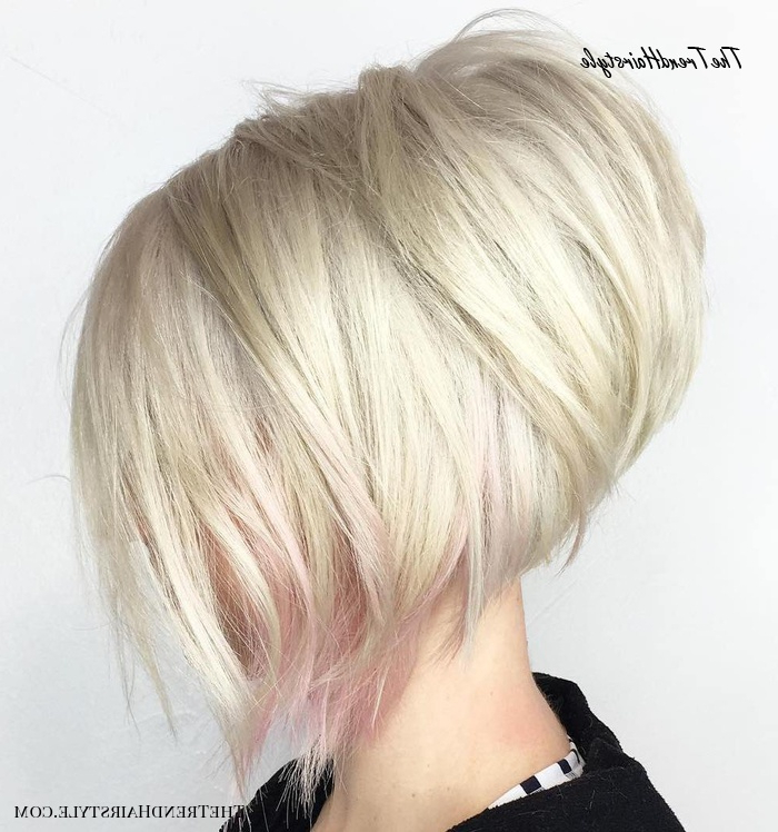 Blonde Contouring – 40 Chic Angled Bob Haircuts – The Inside Sassy Angled Blonde Bob Hairstyles (View 17 of 25)