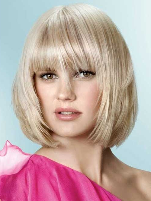 Bob Cuts For Round Faces Pertaining To Bob Hairstyles For A Chubby Face (View 15 of 25)