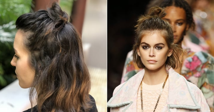 Bob Haircut How To | Braided Topknot Hairstyle | Popsugar Beauty Throughout Most Recently Braided Topknot Hairstyles (View 16 of 25)