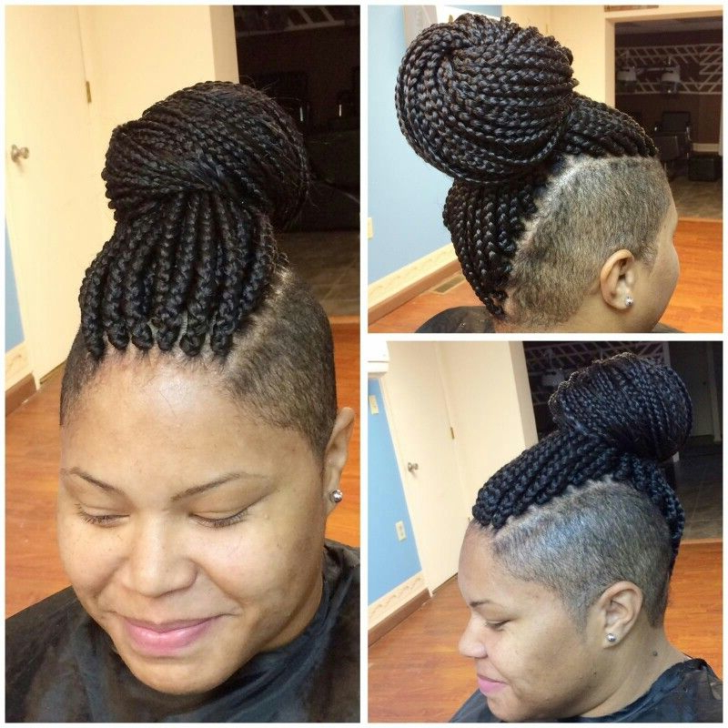 Box Braids Mohawk | Braided Mohawk Black Hair, Braids With In Best And Newest Braided Frohawk Hairstyles (View 2 of 13)