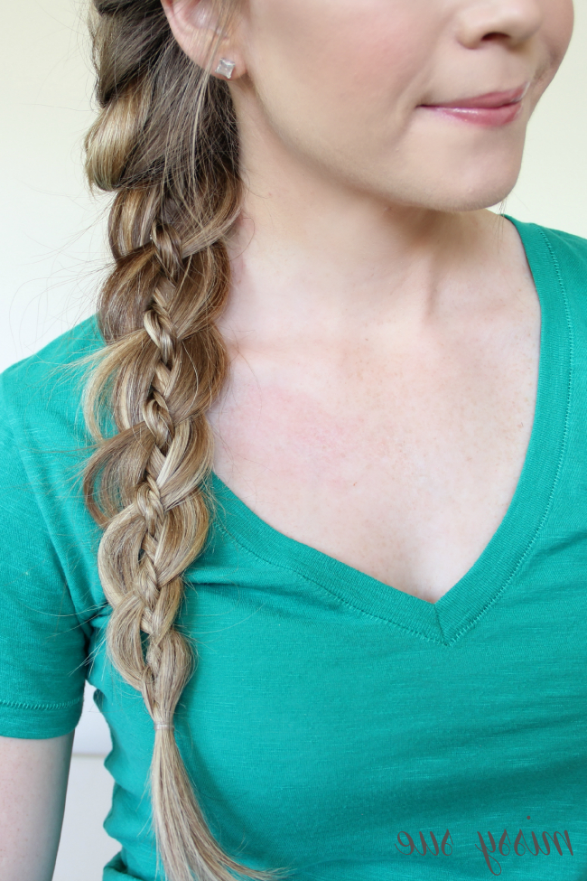 Braid 12 French Braid And Four Strand Side Braid Intended For Most Up To Date Three Strand Side Braid Hairstyles (View 9 of 25)