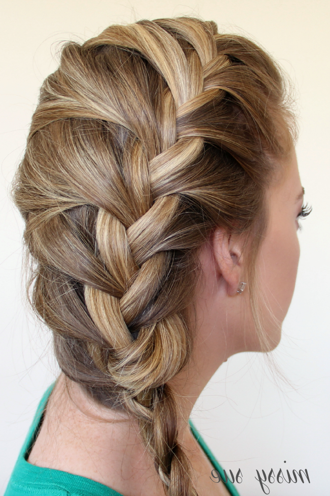 Braid 12 French Braid And Four Strand Side Braid Within 2020 Three Strand Long Side Braid Hairstyles (View 11 of 25)