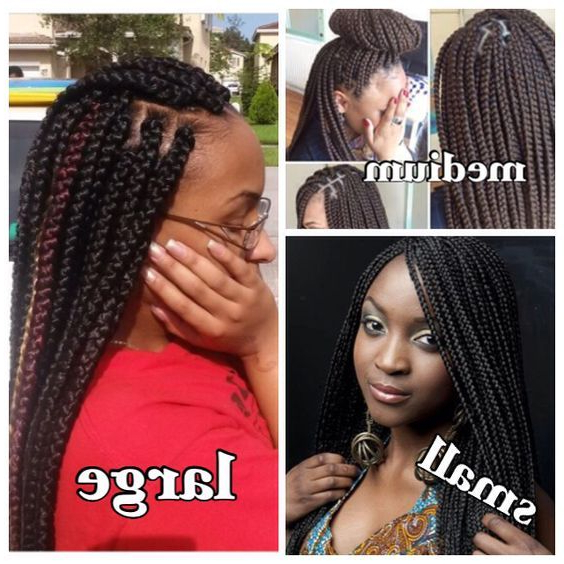 Braid Sizes | Hair Styles, Box Braids Styling, Braided With Recent Medium Sized Braids Hairstyles (View 11 of 25)