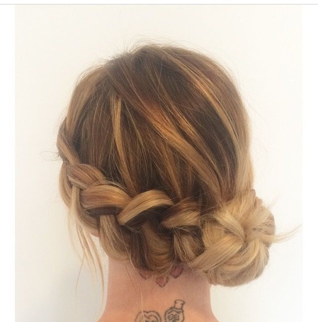 Braid With A Low Side Knot Bun (View 14 of 25)