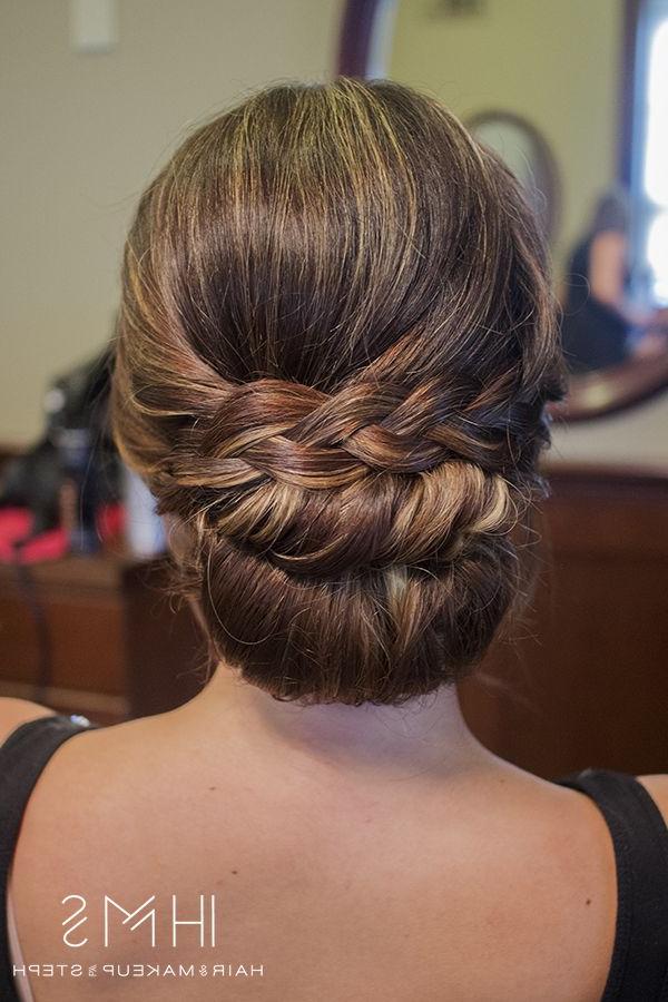 Braided Chignon Hairstyle | Emmaline Bride Wedding Blog In Recent Plaited Chignon Braid Hairstyles (View 24 of 25)