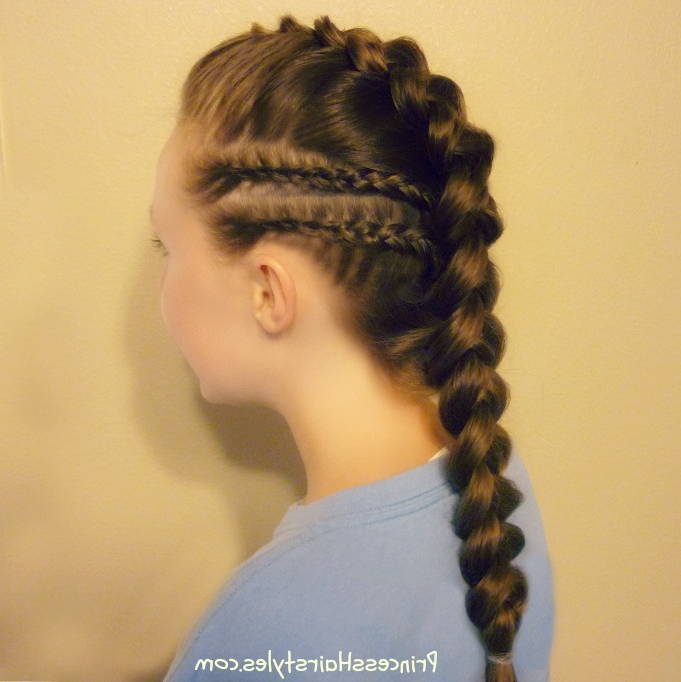 Braided Faux Hawk With Cornrow Accents Tutorial | Hairstyles Intended For Most Current Cornrow Accent Braids Hairstyles (View 11 of 25)