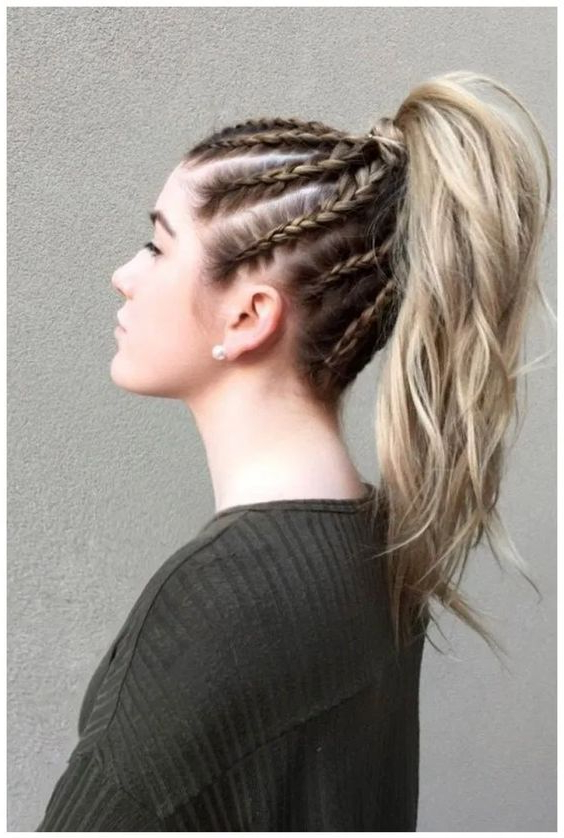 Braided Ponytail Hairstyles You Must Try! Throughout Most Recent Cornrow Fishtail Side Braid Hairstyles (View 23 of 25)