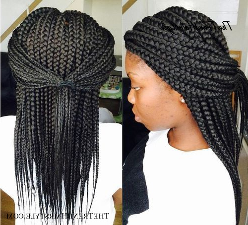 Braids With Bead Embellishments – 40 Best Big Box Braids Throughout Most Popular Medium Sized Braids Hairstyles (View 22 of 25)