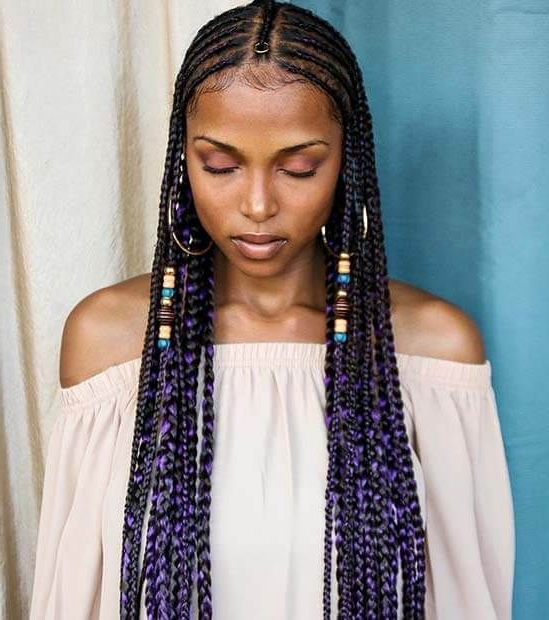 Braids With Beads: Hairstyles For A Beautiful And Authentic In Recent Cornrow Accent Braids Hairstyles (View 24 of 25)