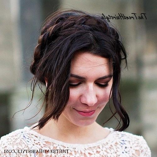 Bright Milkmaid Braid With Bangs – 20 Chic Milkmaid Braid For Newest Milkmaid Crown Braids Hairstyles (View 23 of 25)