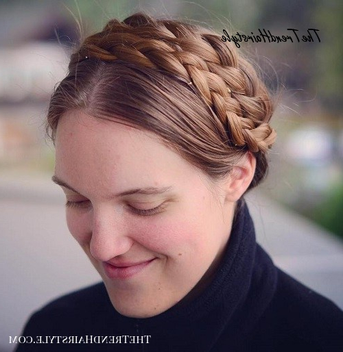 Bright Milkmaid Braid With Bangs – 20 Chic Milkmaid Braid With Regard To Most Up To Date Milkmaid Crown Braids Hairstyles (View 17 of 25)