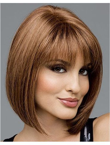Carleyenvy Is A Sharp, Classic Bob With Blunt Bangs And within Sharp And Blunt Bob Hairstyles With Bangs