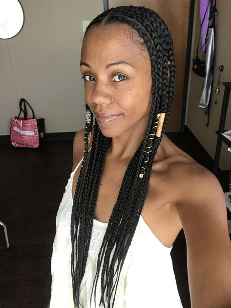 Center Part 70's Style Cornrows   Black Girl Braids, African throughout Most Up-to-Date Center Part Braid Hairstyles