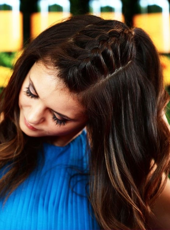Center Part Braid – Extremely Hot Trend For The Young In Latest Center Part Braid Hairstyles (View 13 of 25)
