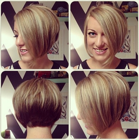 Chic Short Asymmetrical Bob Haircut For Young Ladies In Asymmetrical Bob Hairstyles (View 15 of 25)