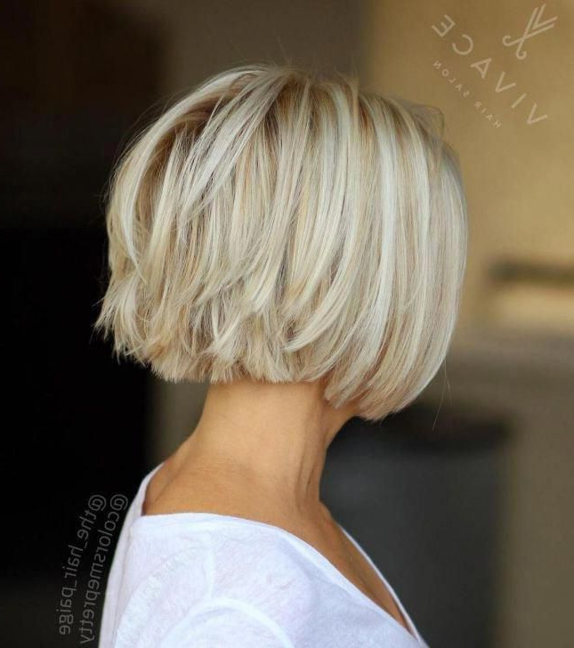 Choppy Bob For Fine Hair #bobhairstylesforfinehair In 2020 intended for Sassy Angled Blonde Bob Hairstyles