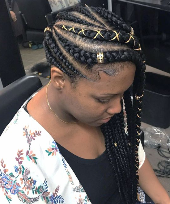 Cornrows Braids | 45 Killer Braided Hairstyles For Black in Current Zig-Zag Cornrows Hairstyles