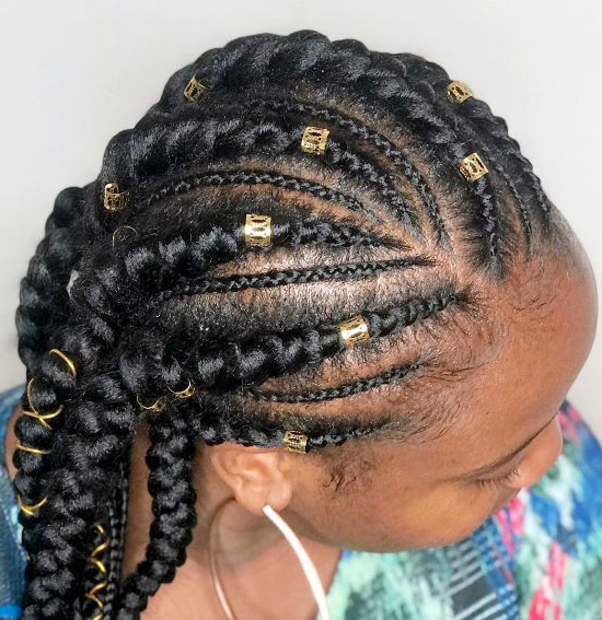 Cornrows Braids | 45 Killer Braided Hairstyles For Black Within Current Thick Plaits And Narrow Cornrows Hairstyles (View 13 of 25)