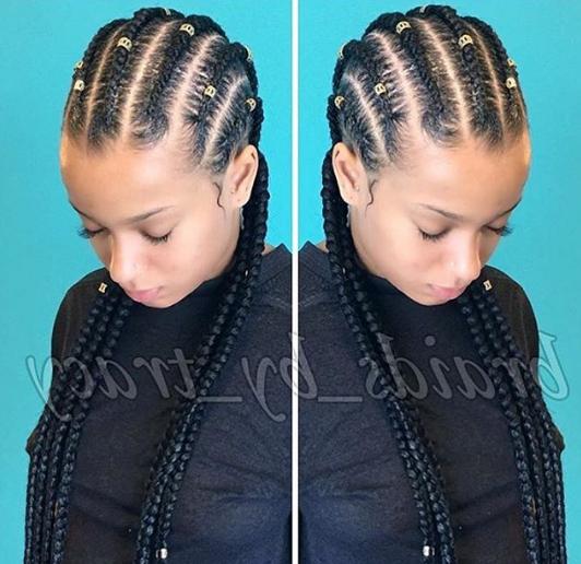 Cornrows Straightbacks Feed In Braids | Braided Hairstyles In Current Straight Backs Braids Hairstyles (View 21 of 25)