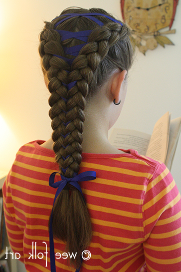 Corset-Braid-Tutorial13 - Wee Folk Art with regard to Most Up-to-Date Corset Braid Hairstyles