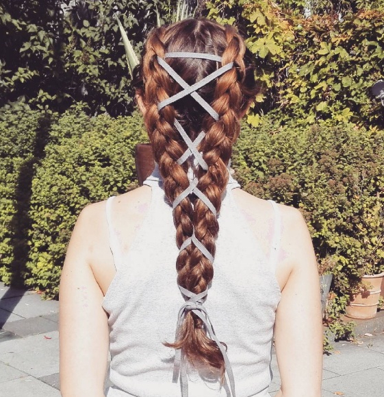 Corset Braids Make A Splash As An Edgy New Hairstyle | Beauty pertaining to Most Recent Corset Braid Hairstyles