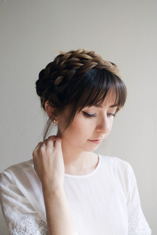 Crown Braid Archives - Styleoholic throughout Best and Newest Milkmaid Crown Braids Hairstyles