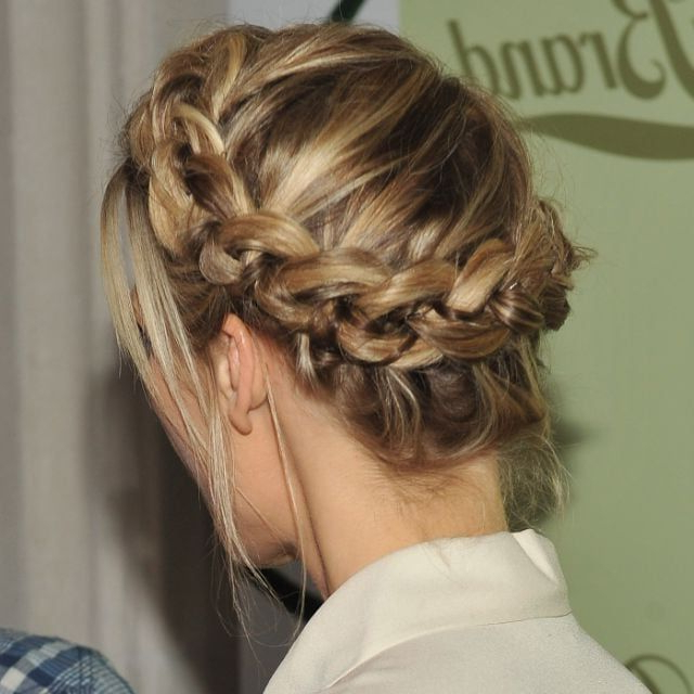 Crown Braid, Braided Bun, Messy Braid, Messy Bun, Wedding Intended For Most Current Messy Crown Braid Hairstyles (View 18 of 25)