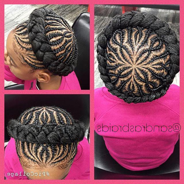 Crown Braid #crownbraid #ghanabraids #cornrows #braids throughout Latest Crown Cornrow Hairstyles