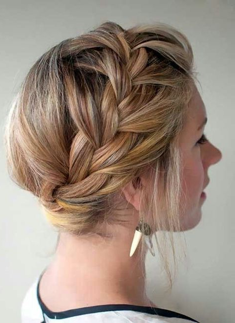 Crown Braid (W/o Tendrils Hanging Of Course)   Hair Styles Inside Most Current Halo Braid Hairstyles With Long Tendrils (View 2 of 26)