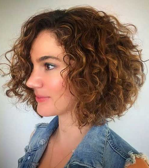 Curled And Attractive Bob Hairstyles | Bob Hairstyles 2018 within Naturally Curly Bob Hairstyles