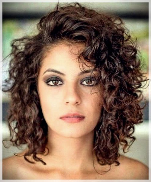 Curly Or Wavy Haircuts 2019 | Haircuts For Curly Hair, Wavy Within Most Current Plum Brown Pixie Haircuts For Naturally Curly Hair (View 17 of 25)