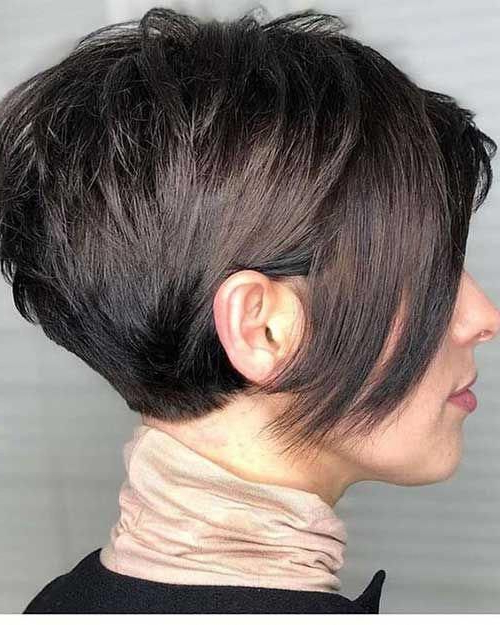 Cute Bob Hairstyles #bobhaircut | Pixie Bob Haircut, Pixie Within Most Up To Date Edgy Look Pixie Haircuts With Sass (View 17 of 25)