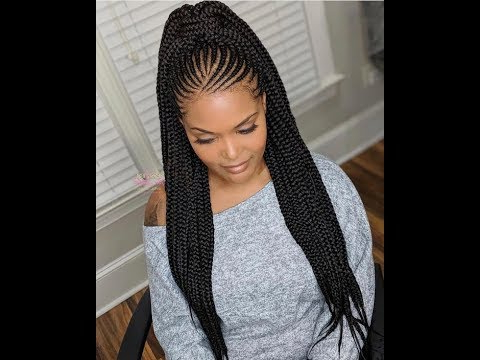 Cute High Ponytail Braided Hairstyles 2019 – Youtube With Current Cornrow Fishtail Side Braid Hairstyles (View 20 of 25)