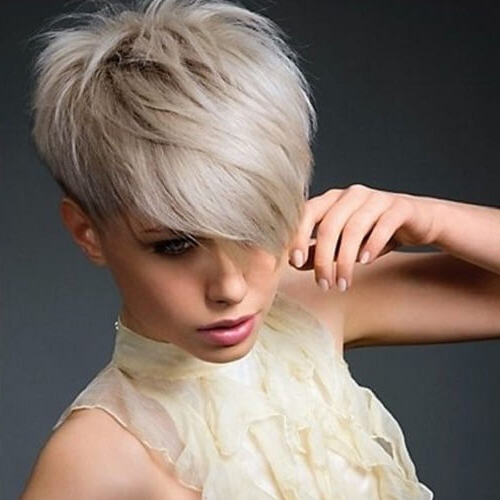 Dare To Get A Pixie Cut! We've Got 50 Suggestions & Ideas in Most Up-to-Date Silver Pixie Haircuts With Side Swept Bangs