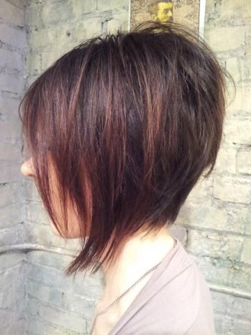 Disconnected Bob Short Hair Length Mahogany #inhairent throughout 2018 Classic Disconnected Bob Haircuts