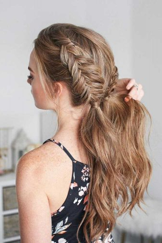 Discover The Easiest Ways Of How To Fishtail Braid For Newest Ponytail Fishtail Braid Hairstyles (View 9 of 25)