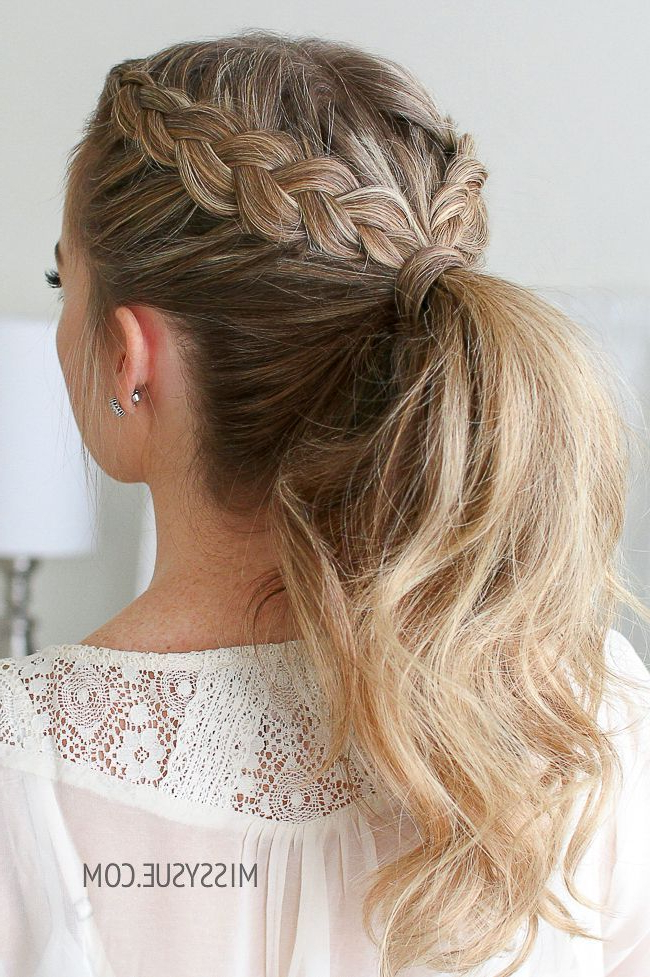 Double Dutch Braid Ponytail | Braided Ponytail Hairstyles In Most Recent Billowing Ponytail Braid Hairstyles (View 6 of 25)