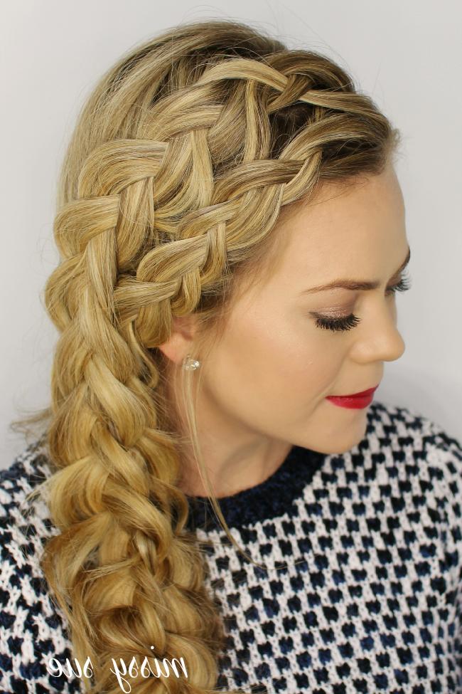 Double Dutch Merged Side Braid inside Most Popular Side Dutch Braid Hairstyles
