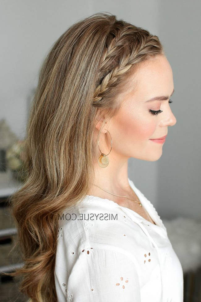 Double Headband French Braids | Braided Hairstyles, Headband intended for Most Up-to-Date Full Headband Braid Hairstyles