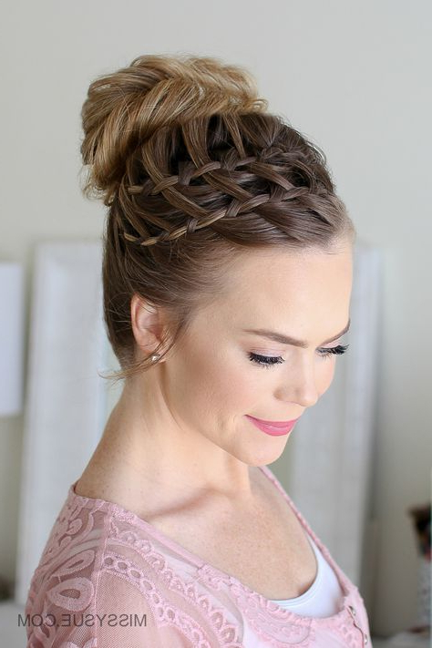 Double Waterfall Braid High Bun | Double Waterfall Braids With Most Up To Date High Waterfall Braid Hairstyles (View 5 of 25)