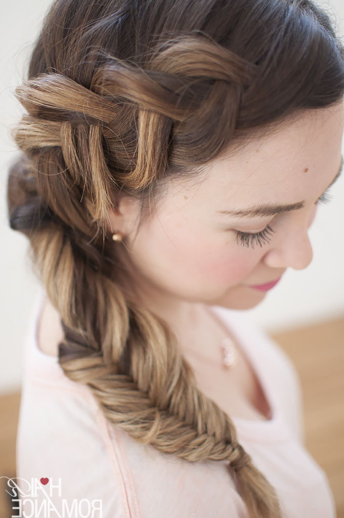 Dream Hair – Combo Dutch – Fishtail Side Braid Tutorial For Most Popular Fishtail Side Braid Hairstyles (View 7 of 25)