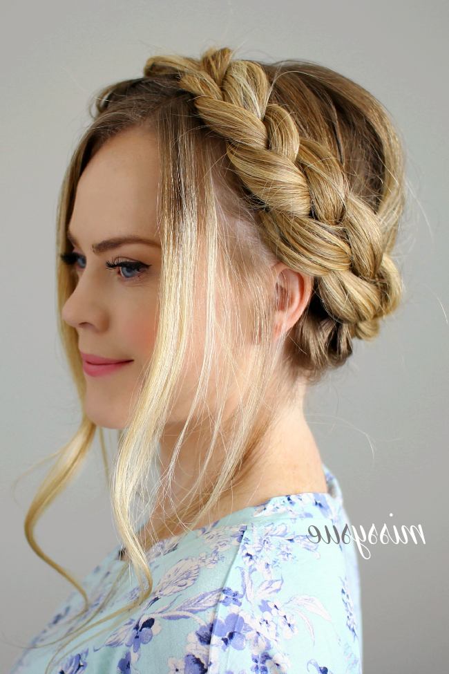 Dutch And Fishtail Crown Braid | Braided Crown Hairstyles within Newest Fishtail Crown Braid Hairstyles