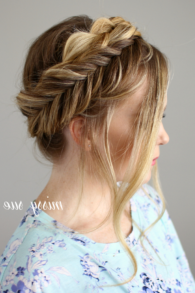 Dutch And Fishtail Crown Braid within Most Popular Fishtail Crown Braid Hairstyles