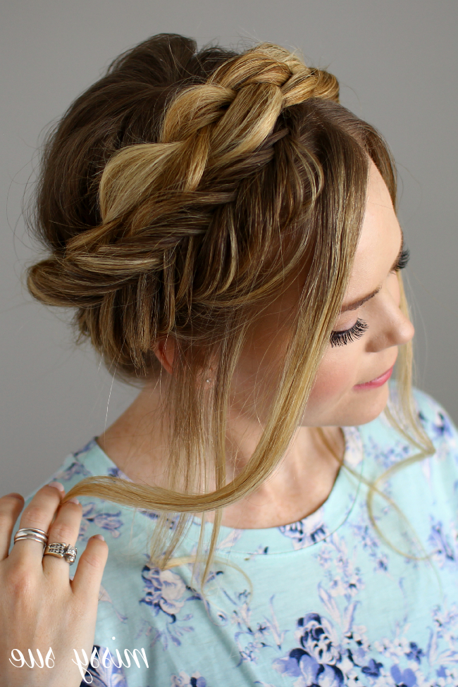 Dutch And Fishtail Crown Braid within Most Recent Fishtail Crown Braid Hairstyles