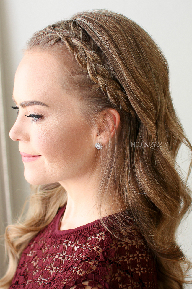 Dutch Braided Headband | Missy Sue intended for Newest Headband Braid Hairstyles With Long Waves