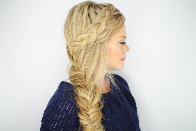 Dutch Fishtail Side Braid Pertaining To 2020 Fishtail Side Braid Hairstyles (View 20 of 25)